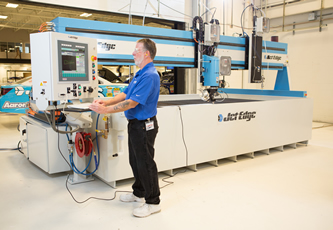 Waterjet system installed in UK headquarters