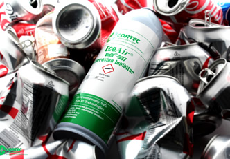 Environmental corrosion protection in recyclable cans