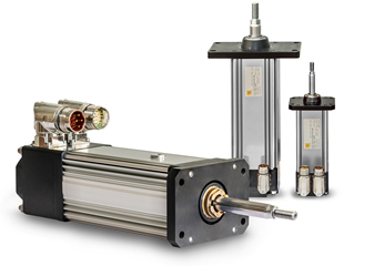 Electromechanical linear actuators designed around an integrated motor
