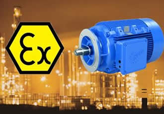 Flexible and safe configuration with explosion-proof motors