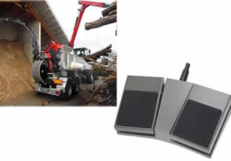 Durable and reliable footswitch used on wood chipper
