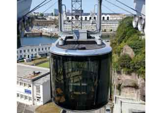 Original cable-car transit system introduced in Brest