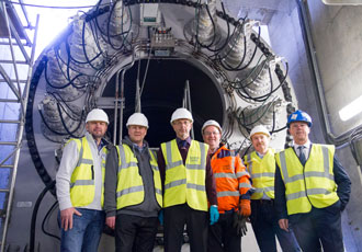 Scottish Canal's Falkirk Wheel receives a visit