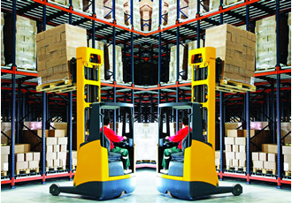 Sophisticated forklift braking technology developed