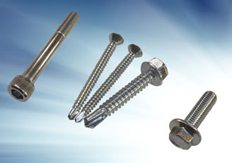 Threads on industrial screws and fasteners widely available