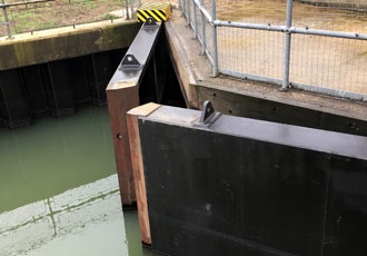 Flood defences boosted by refurbished mitre gates