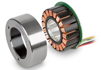Brushless flat motors offer space for cable glands