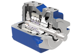 Vane pump features low speed capability architecture