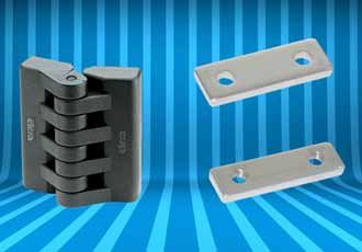 Plastic hinge range designed for enclosures and cabinets
