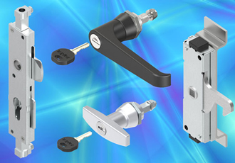 Heavy duty latches for 3 point cabinet locking systems