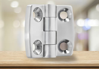 Stainless steel hinges with an asymmetric design
