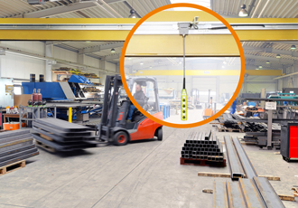 Guidefast control system for the manual control of indoor cranes