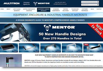 Equipment handles microsite: designed by Engineers for Engineers