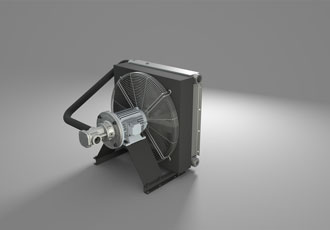Energy-efficient offline cooling units for hydraulic equipment
