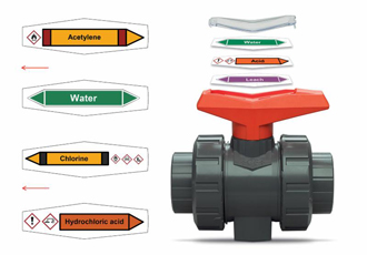 Ball valve labels improve safety and efficiency