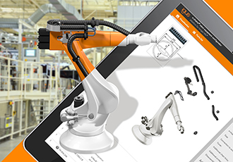 Dresspack configurator for virtually every industrial robot