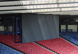 Bigger scoreboard steel structures for Hampden Park stadium
