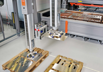 Loading system developed for fibre laser cutting machines