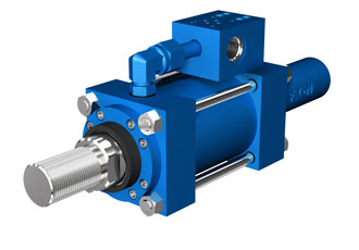 Electrohydraulic cylinder featuring advanced feedback sensors