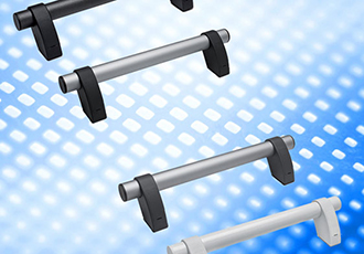 Compatible handles for industrial aluminium frames