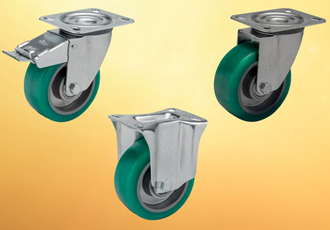 Soft polyurethane wheeled castors aid moving loads