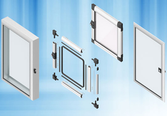 Aluminium windows for vision mounting and protection