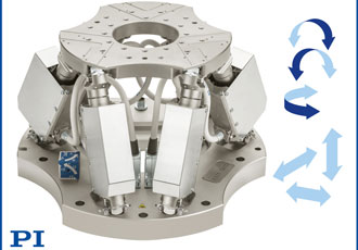 Medium load hexapod provides precision and versatility