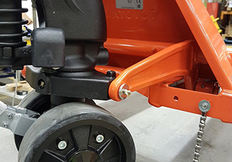 Explosion risk from hand pallet trucks