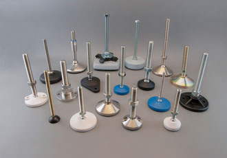 Levelling feet have specialty plating for harsh environments