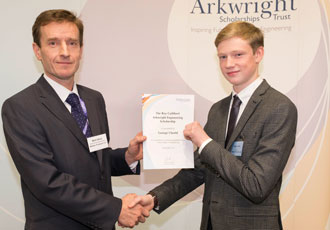 Young talented engineer recognised with Arkwright Scholarship