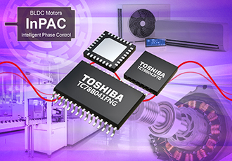Three-phase brushless motor controller ICs with sine wave drive