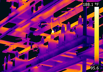 Substation saves substantial costs from a chance thermal scan