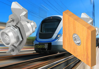 Flush mounting quarter-turn and compression latches for railway