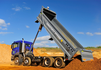 MAN tipper trucks warranty includes EDBRO hydraulics