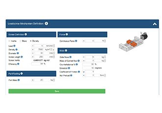 Feature-rich online servo sizing tool for machine builders