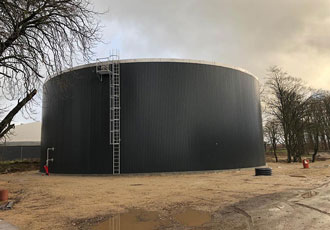 Biggest glycerin tank in Denmark made from stainless steel