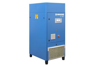 New BOGE compressor combines high free air delivery and energy efficiency with extremely quiet operation