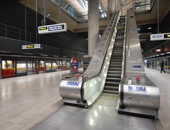 Crucial braking system for London underground's escalators