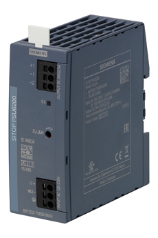 DIN rail power supplies are slim and space-saving