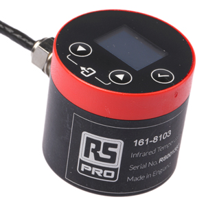 IR temperature sensor shows measurement in situ