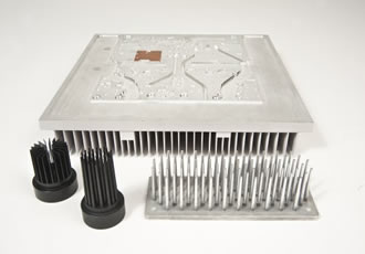 High Density Die Casting process for high thermal performance aluminium heat sinks and liquid cold plates