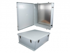 Rugged enclosures suit indoor and outdoor applications