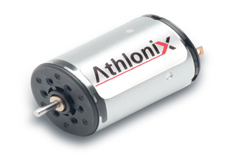 New Athlonix high power density brushed DC motors are available from McLennan