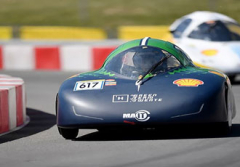 Hydrogen fuelled car drives for efficiency world record