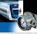 Pressure Gauge MEX3 with Robust Housing for Rolling Stock