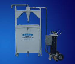 Waterjet Abrasive Removal System Removes 10 Pounds of Abrasive per Minute