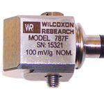 New side exit accelerometer with integral cable available from Wilcoxon Research