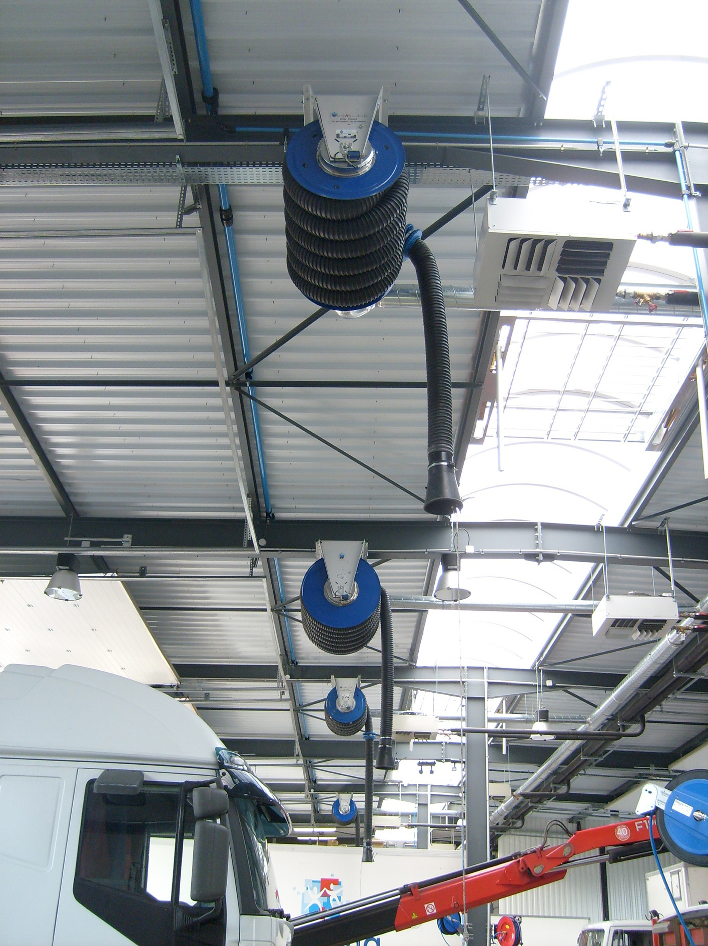 Garage Ventilation Systems : New range of flextraction vehicle exhaust extraction